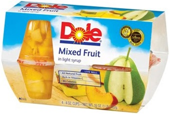 Dole Mixed Fruits in Light Syrup